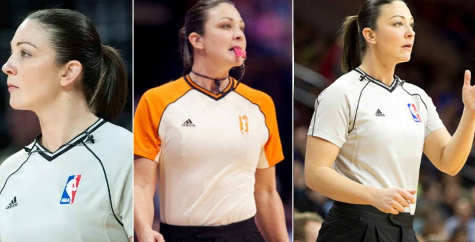 famous beautiful women in NBA as referee Holtkamp