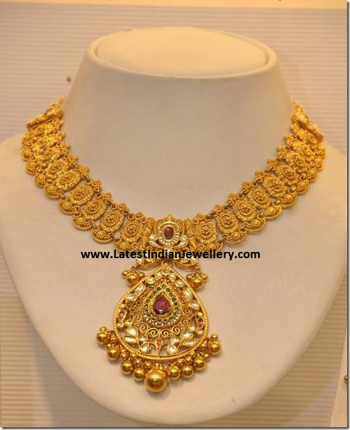 Gold Necklace from Khazana