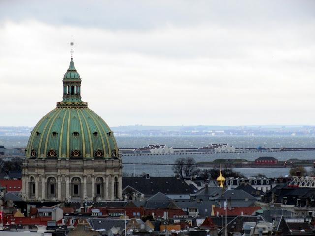 View of the Marble Church from The Tower, Christiansborg Slot, Copenhagen