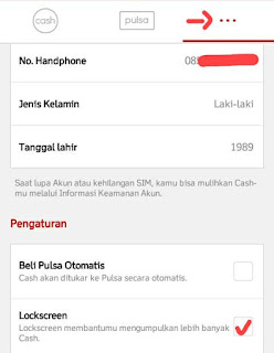pengaturan cash tree