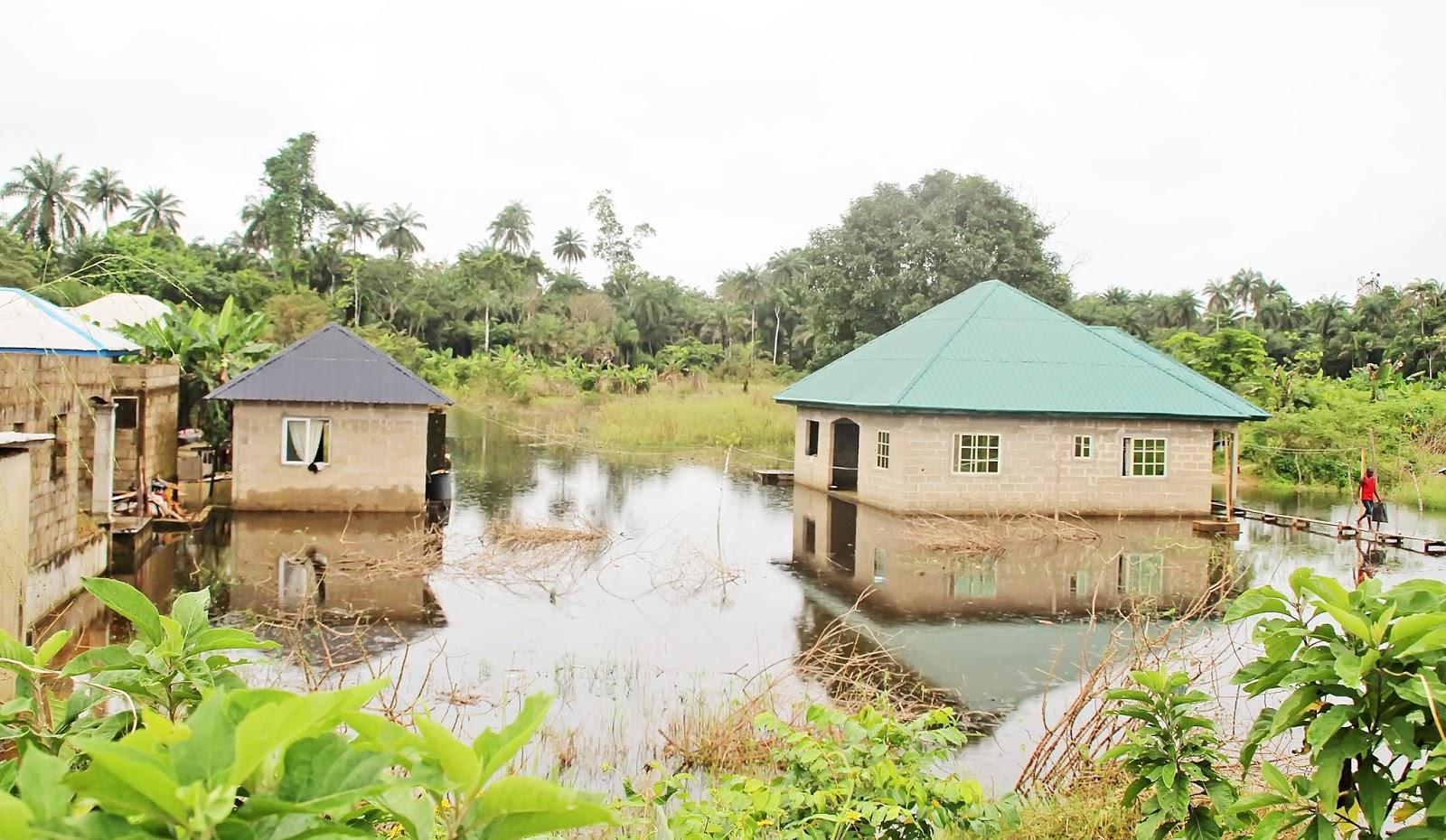 Niger Delta News Feeds Flood River Nun Overflows Bank