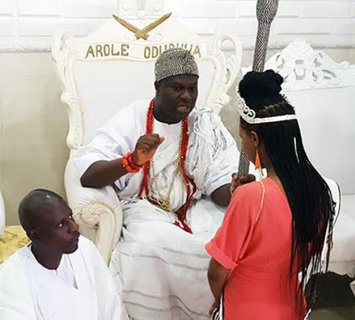 miss africa gb visits ooni of ife