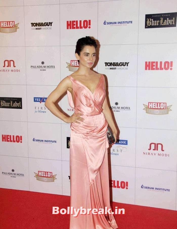 Kangana Ranaut, Kangana Ranaut, Priyanka Chopra sizzle at Hello Awards 2013