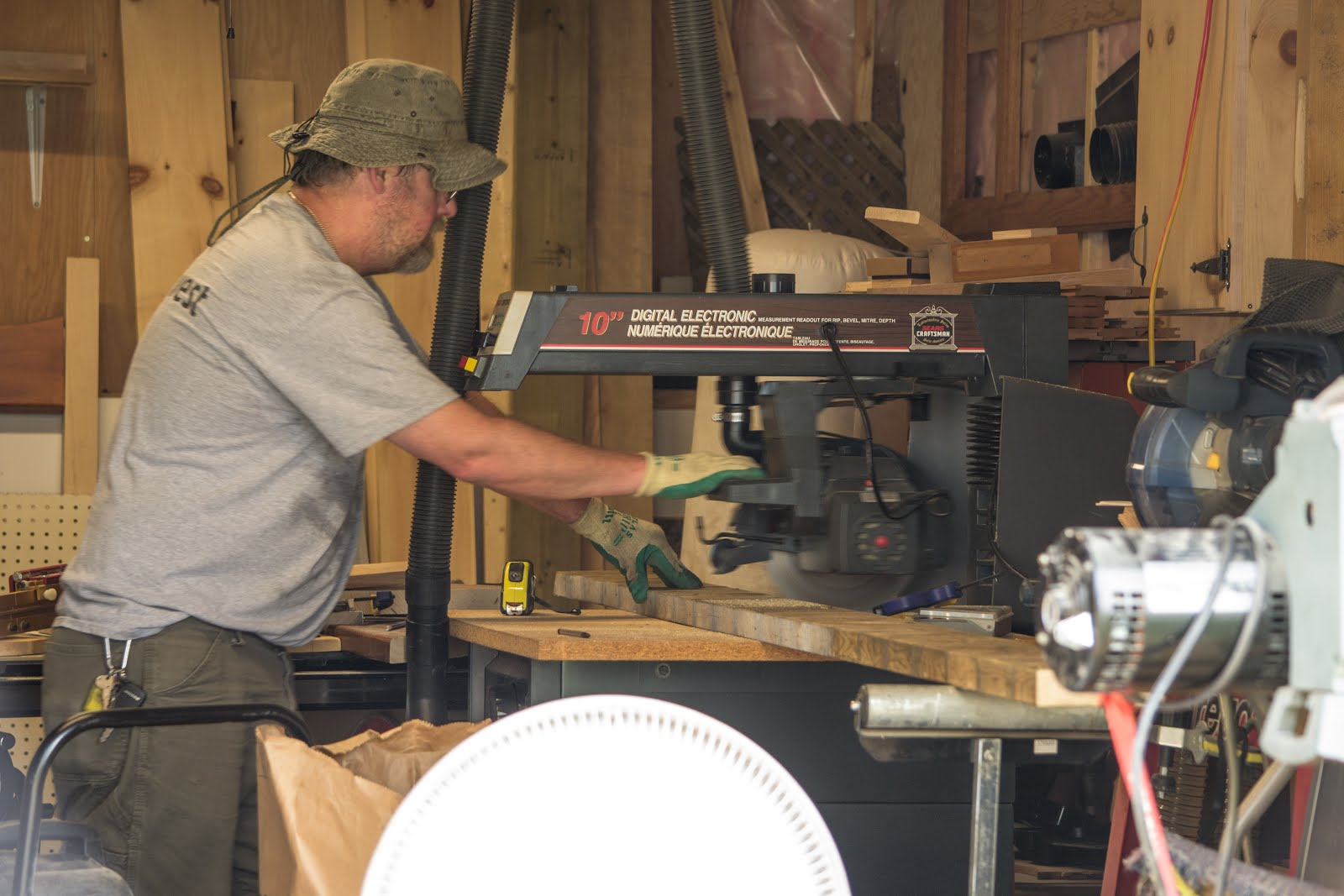 Love Seeing and Hearing  Papa Working In His Wood Shop
