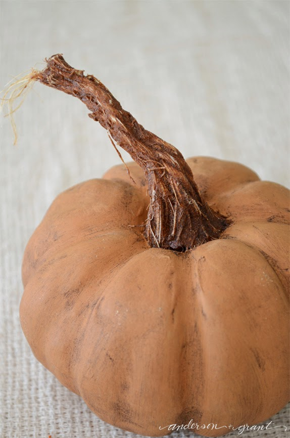 How to create a realistic stem for your pumpkin  |  25 Creative DIY Pumpkins at www.andersonandgrant.com
