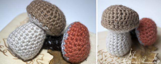 связать грибы спицами