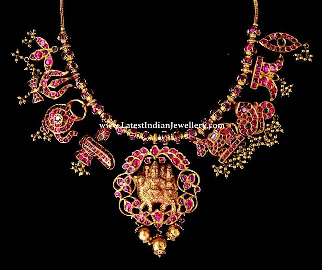 Shiv Motifs Temple Necklace