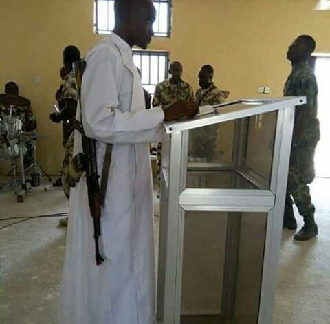 News: A Typical Sunday Service at (Army Barack) Maidugiri, Nigeria
