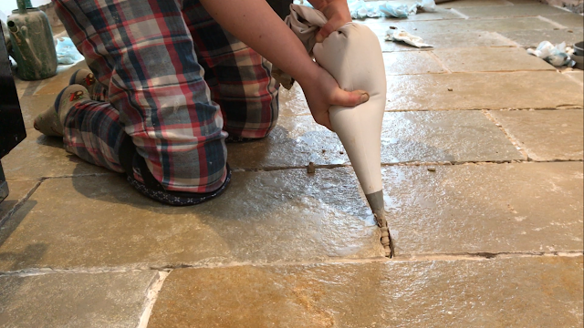 hack for grouting tiles