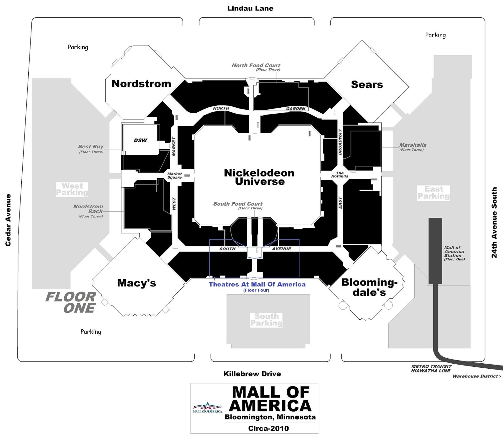 Present Day Plan Of City Of Lakes Multi on Nordstrom Store Floor Plan