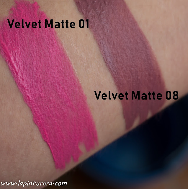 swatches labiales mate