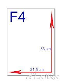 kertas F4 atau folio
