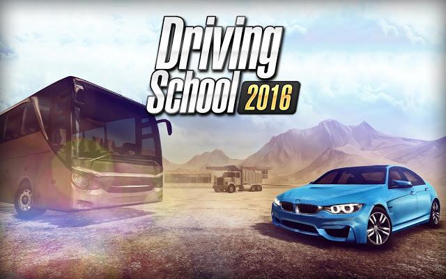 تحميل لعبة  Driving School 2016 مهكرة للاندرويد من ميديا فاير