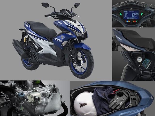 Yamaha Aerox 155, Berkendara Nyaman, Elegan, dan Sporty