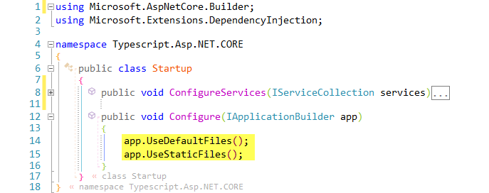 Configuring Typescript for ASP NET CORE Apps
