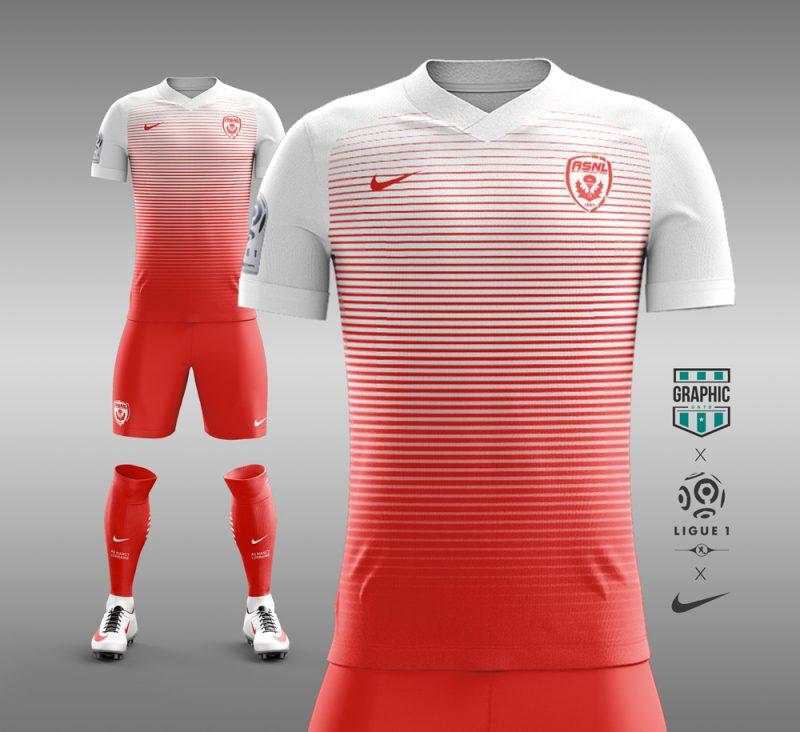 e9067aade228a Designer cria camisas de clubes franceses inspiradas na Nike - Show ...