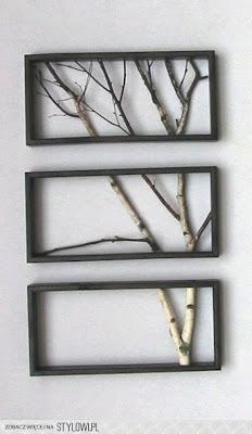 Creatividad reciclada con ramas