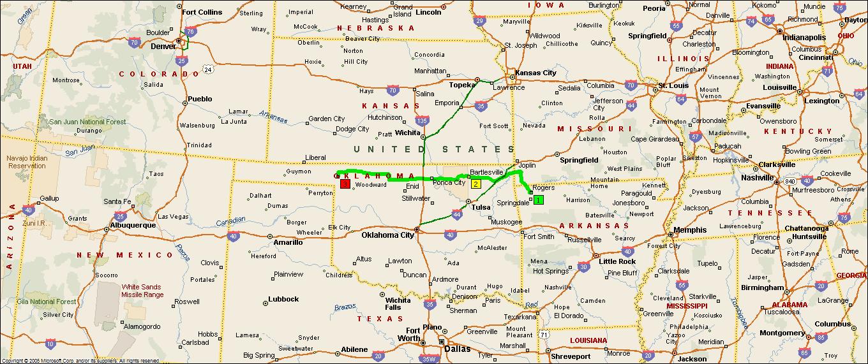 Map Of Oklahoma And Arkansas - Map of oklahoma