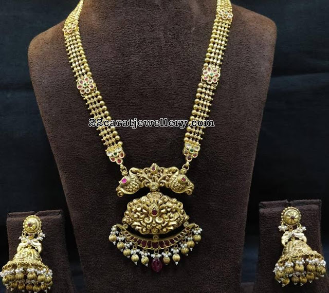 AntiqueLlong Set with jhumkas