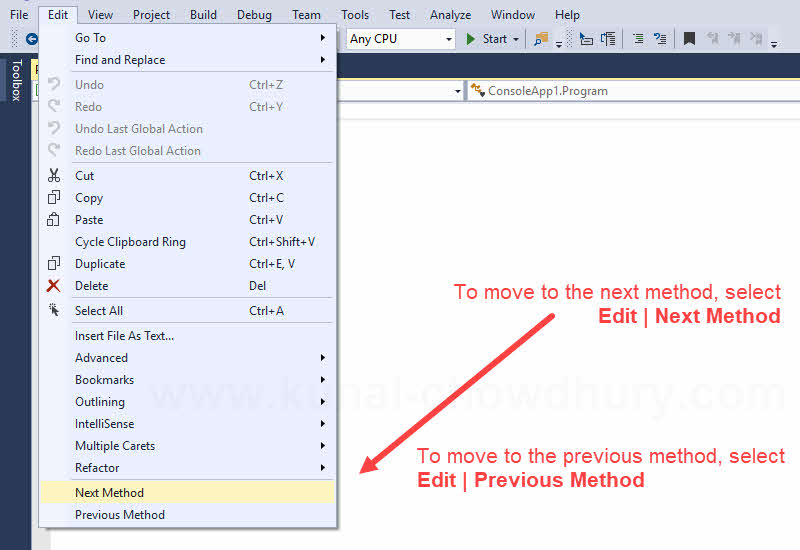 Visual Studio Productivity Tips: How to move between methods and properties efficiently