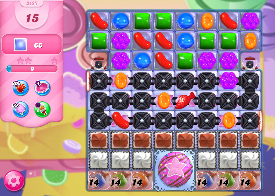 Candy Crush Saga level 3125