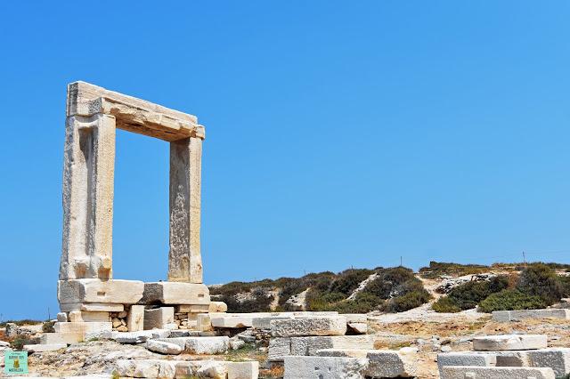 Portara Templo de Apollo en Chora, isla de Naxos