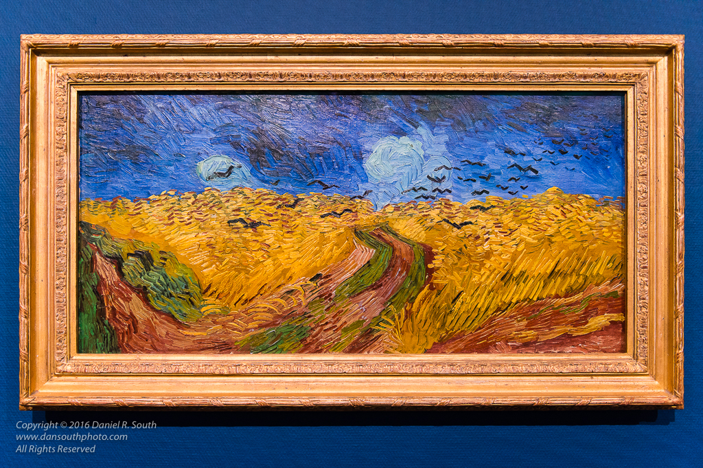 a photo of the van gogh painting wheatfield with crows amsterdam