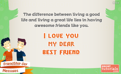 I Love You My Friend Messages