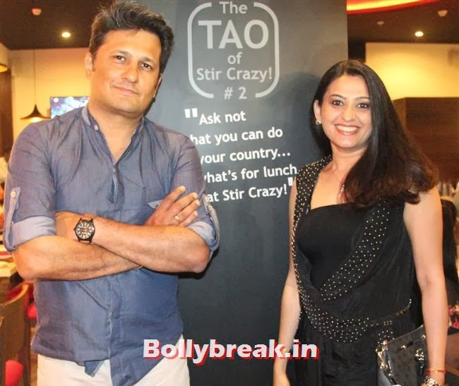 Ankush Mohla and Actor Smita Bansal, Stir Crazy Restaurant Launch