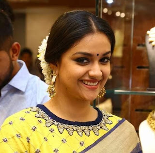 Keerthy Suresh with Cute and Lovely Smile at AVR Jewellers Opening
