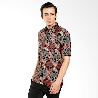 Model Baju Batik Pria Kombinasi Terbaru Elegan