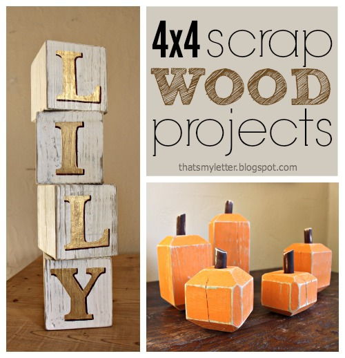 That's My Letter: DIY Scrap Wood Projects: Home Decor