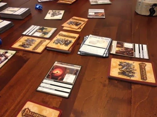 Another image of the Pathfinder card game