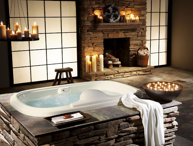 rustic bathroom decorating