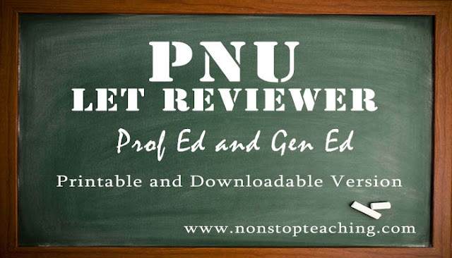 PNU LET Reviewers Gen Ed and Prof Ed PDF