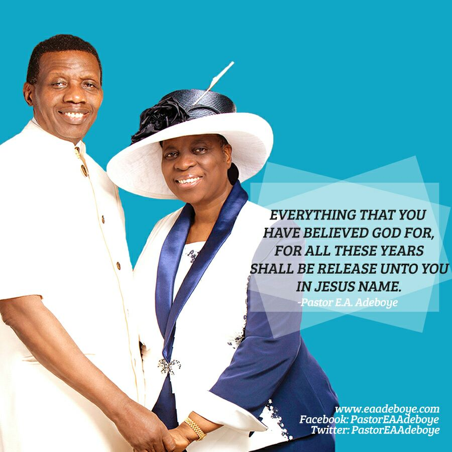 Pst Adeboye Reveals Secret to Success of His Marriage