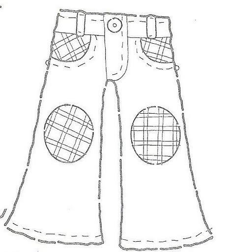 Dibujos para colorear: Dibujos de pantalones para colorear
