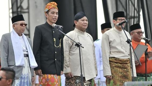 Survei Y-Publica: Jokowi-Ma'ruf Amin 53,5%, Prabowo-Sandiaga 31,9%