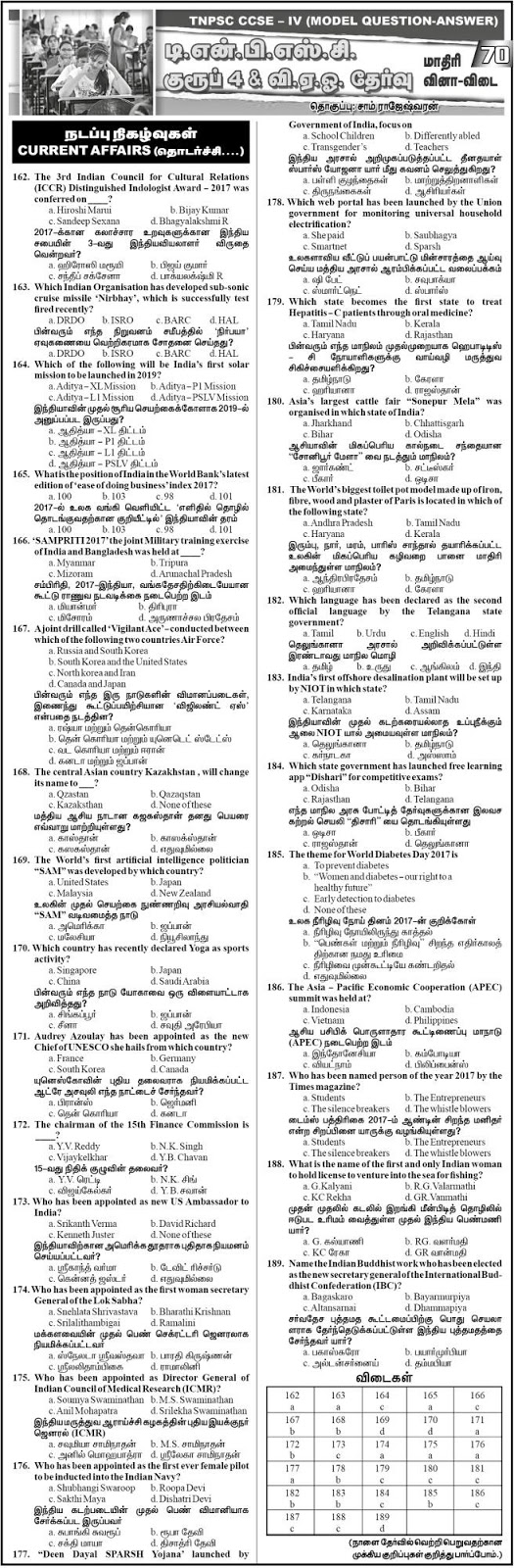TNPSC Group 4 Current Affairs Model Papers - Dinathanthi Feb 6, 2018, Download as PDF