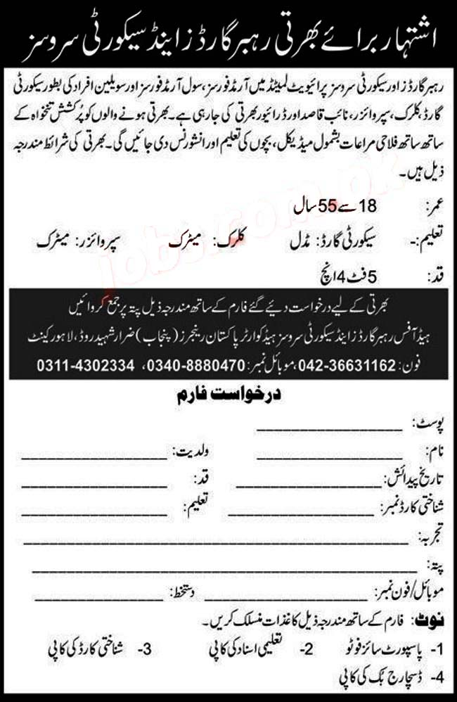 Pakistan Rangers Jobs 2020 Apply Now
