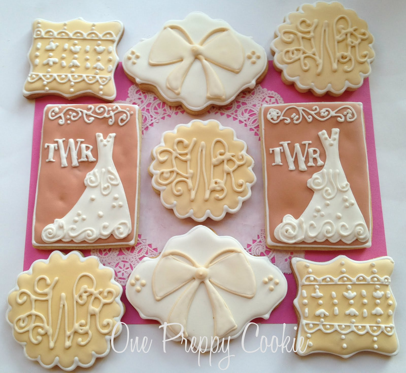 One Preppy Cookie: Elegant Bridal Shower Cookies