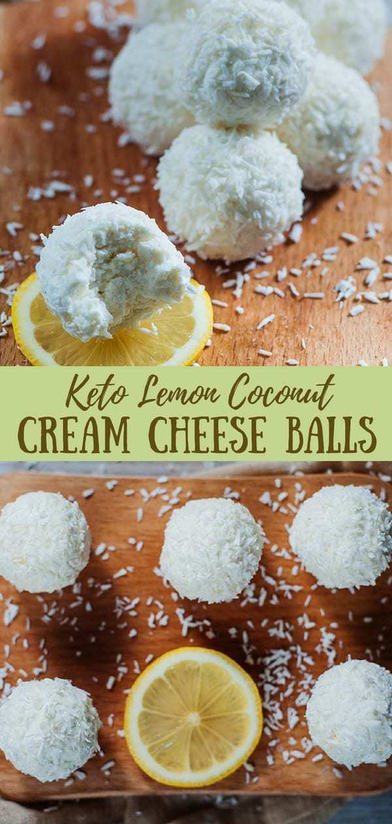 Best Keto Lemon Coconut Cream Cheese Balls