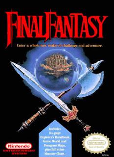 Carátula del cartucho Final Fantasy para NES, 1987