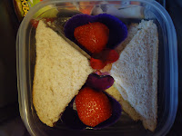 Sandwich and Strawberries