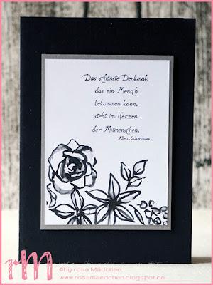 """Stampin' Up! rosa Mädchen Kulmbach: Trauerkarte mit Memories and More """"Blütenfantasie"""""""