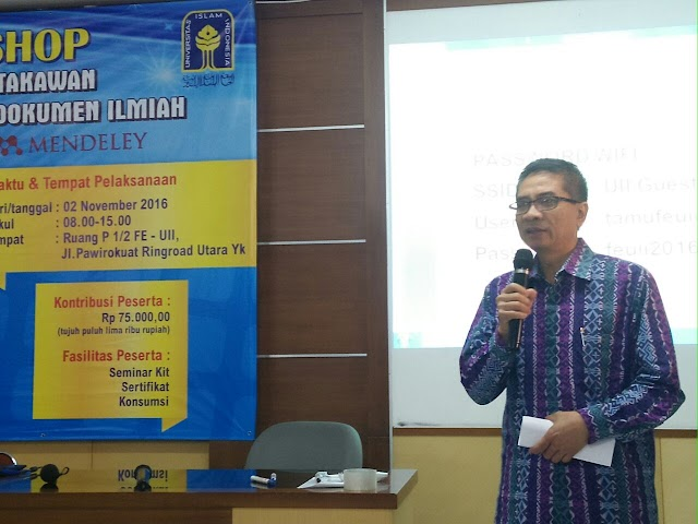Workshop Perdana FPPTI DIY MENDELEY