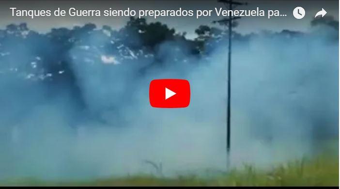 Tanques de Guerra siendo preparados por Venezuela para combatir a Trump
