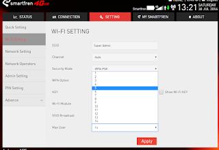 Wi-Fi Setting max user