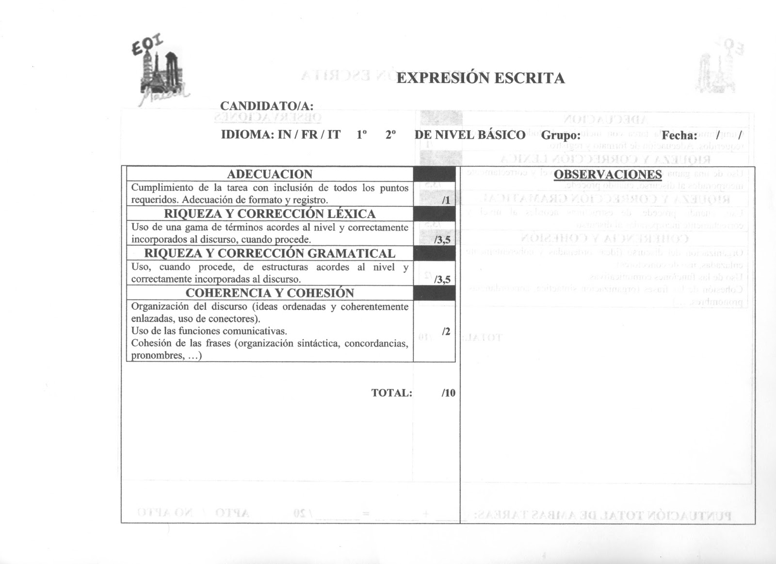Food for thought: 1ºNB PLANTILLA DE CORRECCIÓN DE EXPRESIÓN ESCRITA