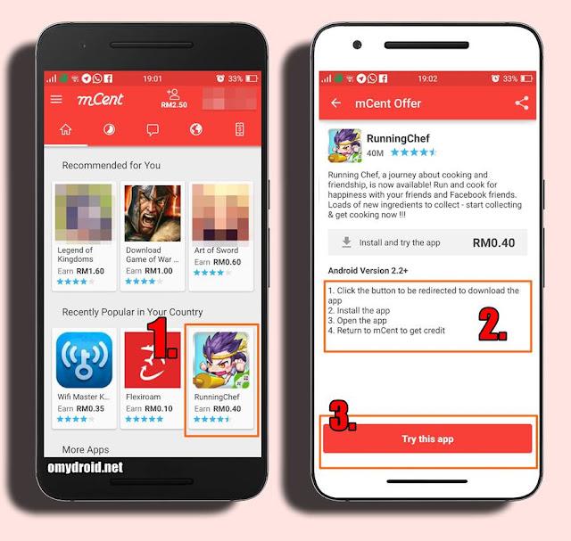 Cara Mendapatkan Topup Percuma (Android)